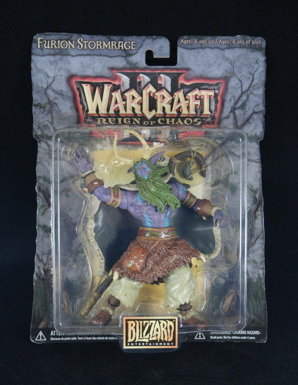 """Front photo of BLIZZARD ENTERTAINMENT Furion Stormrage of """"Warcraft Reign Of Chaos"""" 7"""" 2002 NEW"""