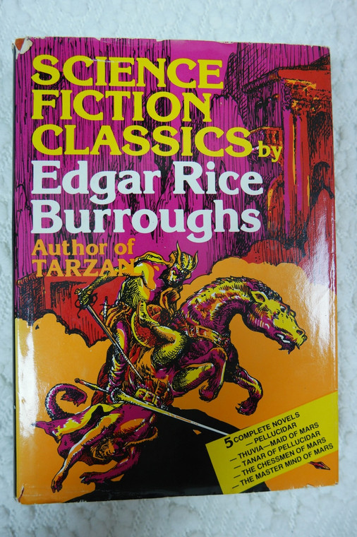 Science Fiction Classics by Edgar Rice Burroughs hardcover novels book 1982 GUC front view