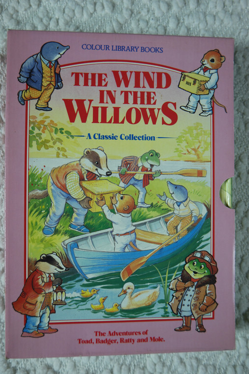 The Wind In The Willows A Classic Collection by Colour Library Books X4 hardcover story books 1991 VGUC front view
