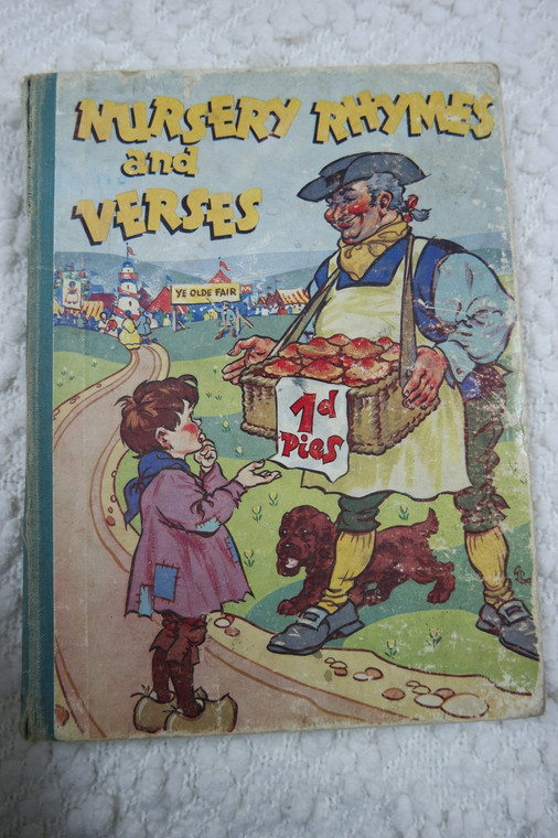 Nursery Rhymes And Verses by H.G.C. Marsh Lambert hardcover picture book 1920's rare AVC front view