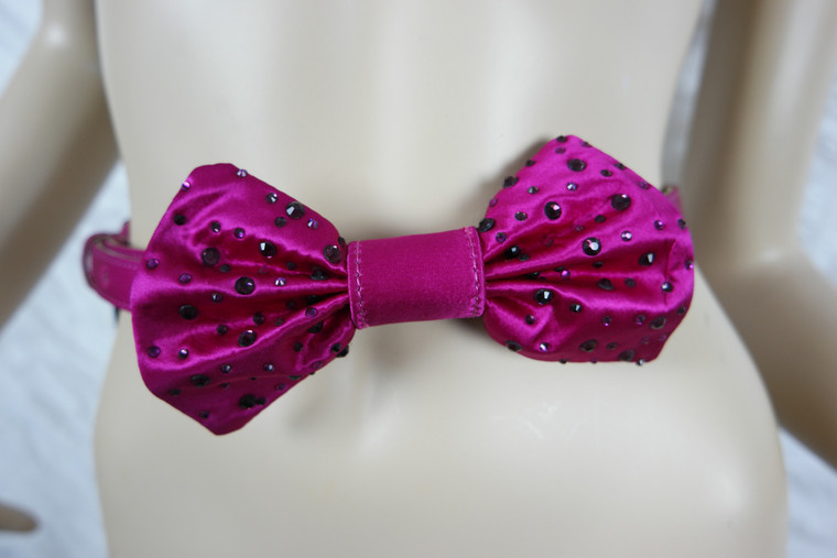 ALANNAH HILL hot pink Light Up The Sky satin diamonte bow belt size S/M BNWT front view
