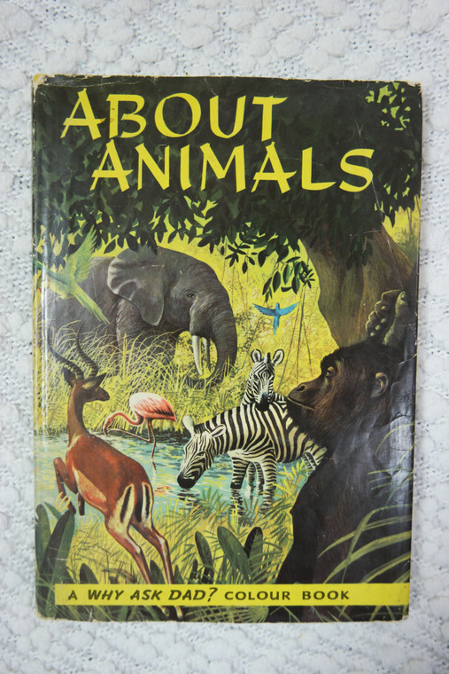 About Animals by John Bunn-Richards hardcover picture book 1959 GVC front photo.