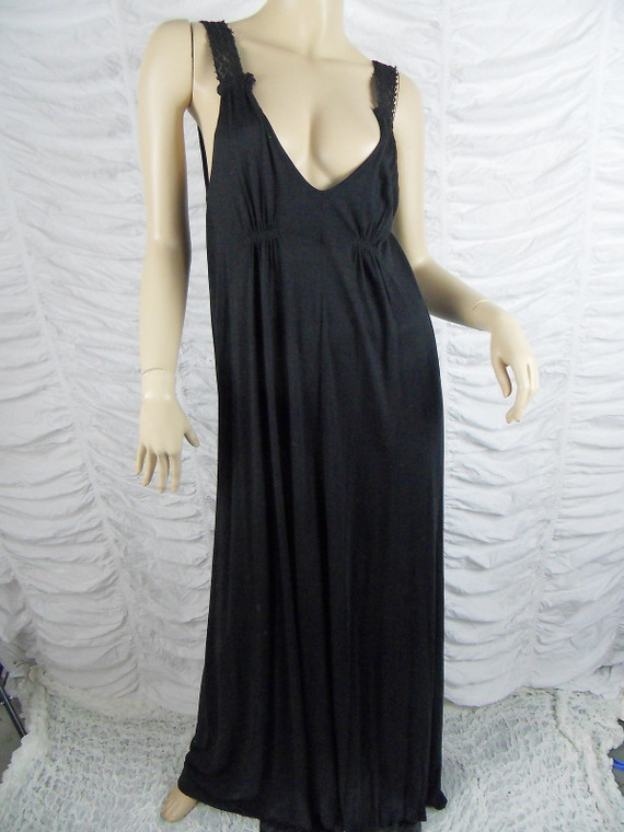 WITCHERY black 100% viscose maxi dress size S BNWT front view