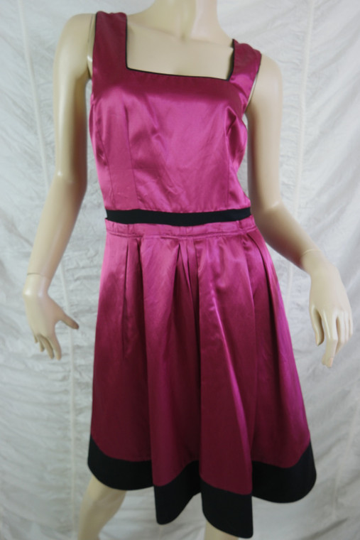 ALANNAH HILL fuchia pink Wave To No One flared A-line frock dress size 10 EUC front view