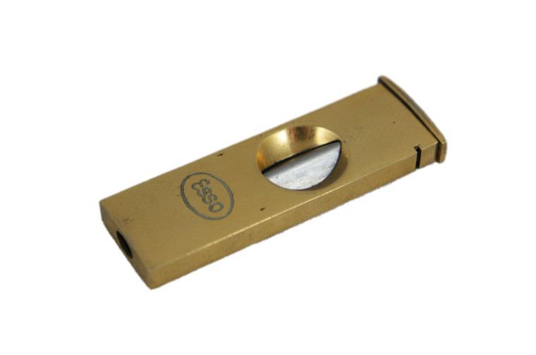 ESSO PFEILRING SOLINGEN gold plated cigar cutter vintage 1950's VGVC Germany front view