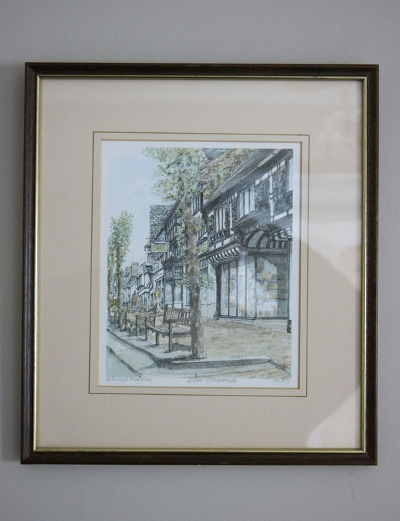 "Front photo of limited edition print signed and titled ""East Grinstead"" by Philip Martin"