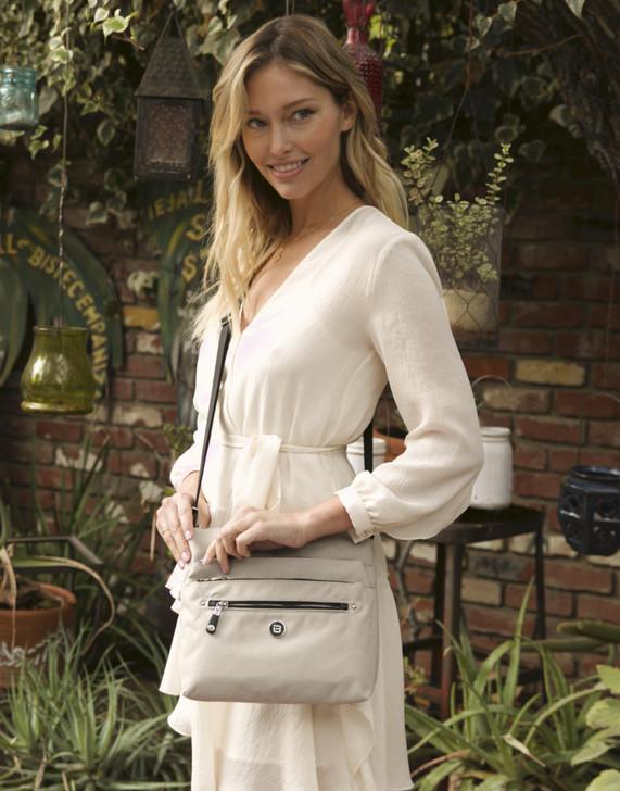 Crossbody Bag - Buena F Crossbody Bag Model Grey White