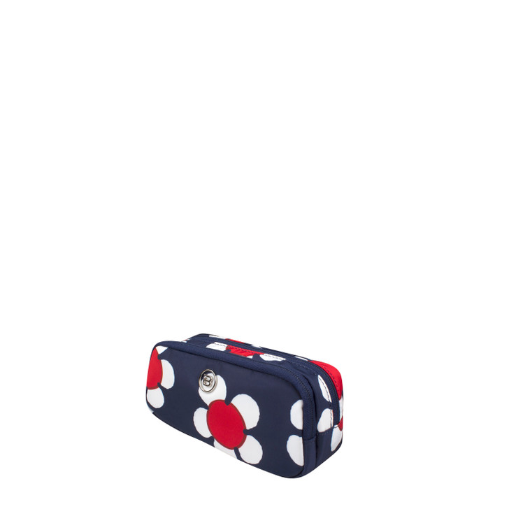 Cosmetic Pouch - Tenley Cosmetic Pouch Angled Navy Daisy