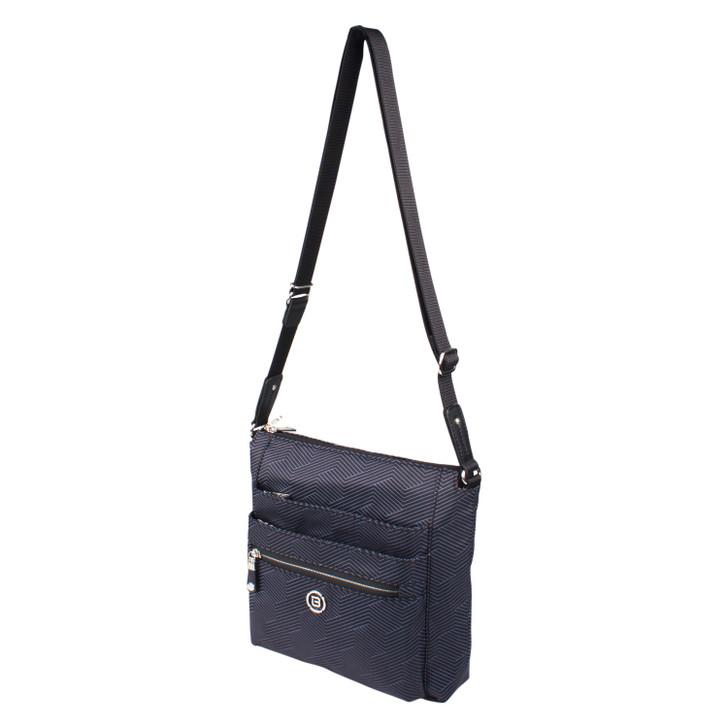 Crossbody Bag - Buena P Crossbody Bag Angled Black Lines