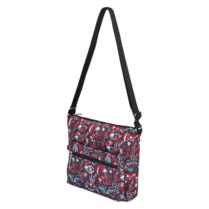 Crossbody Bag - Tasmin Crossbody Bag Angled Black Stylish Abstract