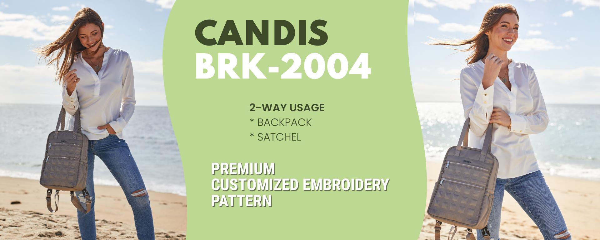 beside-u BRK2004-684 Candis Stone Gray backpack purses fashion handbags designer bags spring banner