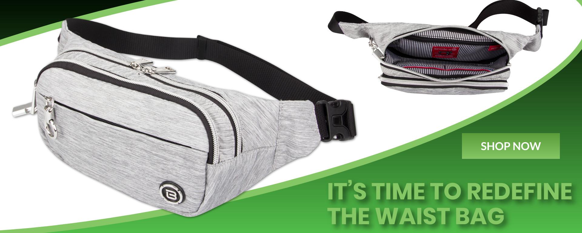 Ocean Gray waist bag purses fashion handbags designer bags green banner