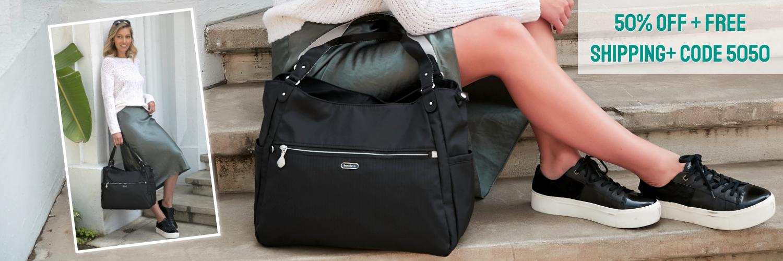 beside-u 50% off BERT48L-100 Century L Black tote purses fashion handbags designer bags banner