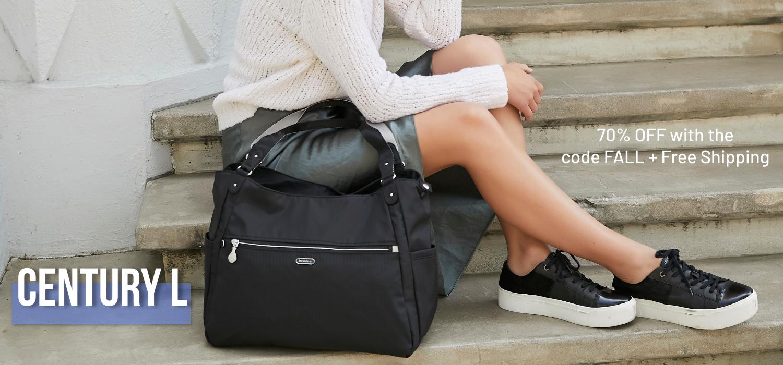 beside-u BERT48L-100 Century Black tote purses fashion handbags designer bags banner