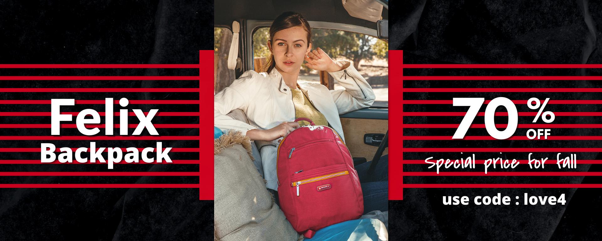beside-u BFYT10-299 Felix Heart Red Backpack Handbag purses fashion handbags designer bags Banner 1920x770
