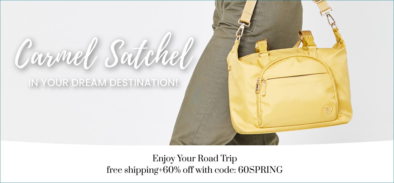 beside-u BNUA2012-579 Carmel Yellow Sun satchel purses fashion handbags designer bags spring banner