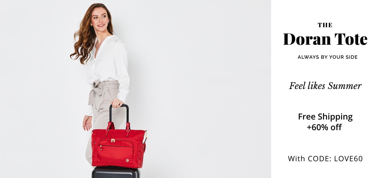 beside-u BNUA2013-2G8 Doran Premium Red tote purses fashion handbags designer bags june banner