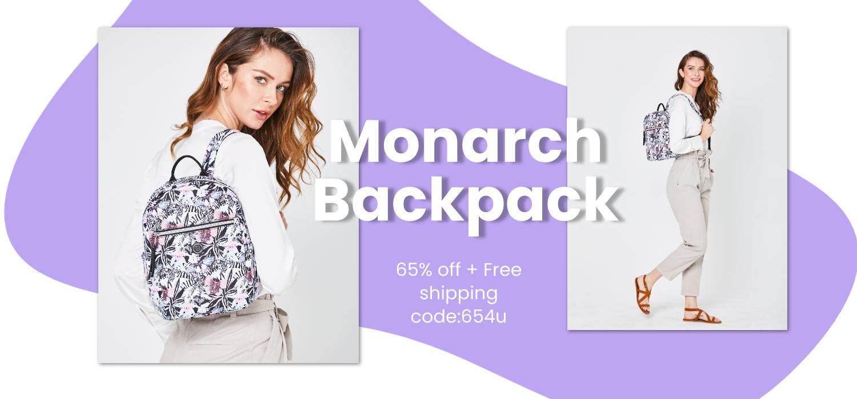 beside-u BNUU2001-197 Monarch Butterfly Black backpack purses fashion handbags designer bags banner 1500x700