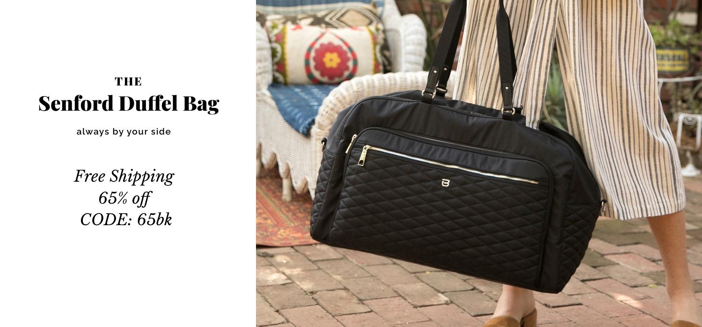beside-u BTTE04-100 Senford Black duffel purses fashion handbags designer bags banner