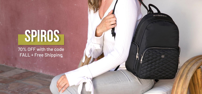 beside-u BTTE07-100 Spiros Black backpack purses fashion handbags designer bags banner