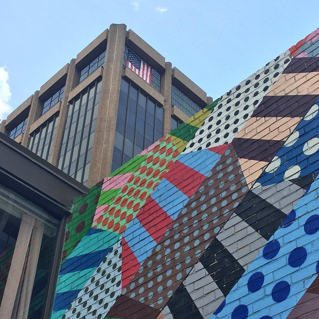 Georgetown Jason Woodside Street Mural American Flag