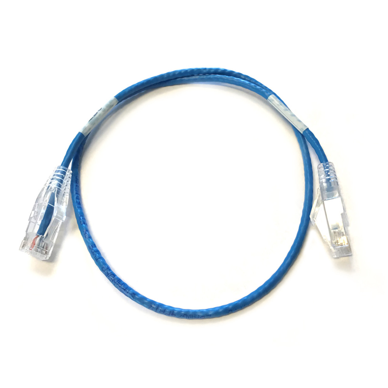 CAT6 Mini 4 pair RJ45 Booted Blue 28 AWG Patch Cable