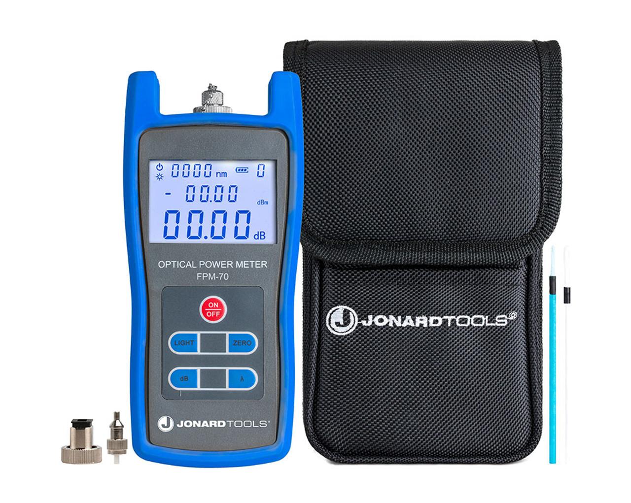 Jonard - Fiber Optic Power Meter (-70 to +6 dBm) with FC/SC/LC Adapters - FPM-70