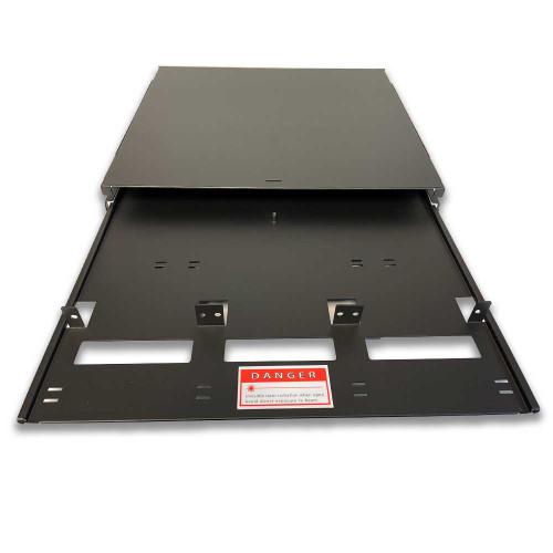 iFiber Optix 1RU Rack Mount Enclosure LGX - IFR-1U-LGX-15-BK