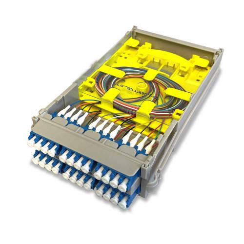 Wirewerks Next Step 3S 24F Loaded Patch Splice Module - LC/UPC Singlemode - N3-LPL24S
