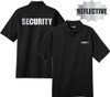 Security - Reflective Black Short Sleeve Tactical Polo