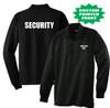 Security - Customized Black Long Sleeve Tactical Polo