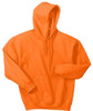 Safety Orange Fleece Hooded Sweatshirt *Custom Printing Available*