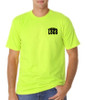 Lime Green Short Sleeve T-Shirt - 50/50 Cotton/Poly (Preshrunk) USA MADE *Custom Printing Available*