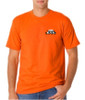 Bright Orange Short Sleeve T-Shirt - 50/50 Cotton/Poly (Preshrunk) USA MADE *Custom Printing Available*
