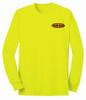 Lime Green Long Sleeve T-Shirt USA - 50/50 Cotton/Poly (Preshrunk) *Custom Printing Available*