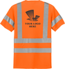 Safety Orange Class 3 T-Shirt with Pocket Custom Printed ANSI/SEA 107 Class 3 Certified