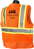SV22-2 Safety Vest Class 2 Two Tone Safety Orange Back Custom Printed Logo