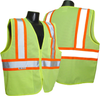 Radians SV22-2 Economy Type R Class 2 Safety Vest with Two-Tone Trim Safety Green Vest with Safety Orange Trim