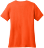 Ladies Safety Orange Short Sleeve T-Shirt - 50/50 Cotton/Poly (Preshrunk) *Custom Printing Available*