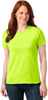Ladies HiVis Green Short Sleeve TShirt