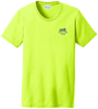 Ladies Safety Green Short Sleeve T Shirt Front Left Chest Custom Printed Logo
