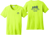 Ladies Safety Green Short Sleeve T Shirt Front and Back Custom Printed Logo