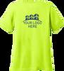 Ladies Safety Green Short Sleeve T Shirt Back Custom Printed Logo