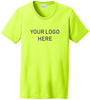 Ladies Safety Green Short Sleeve T Shirt Screen Printed Logo