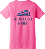 Ladies Safety Pink Short Sleeve T-Shirt - 50/50 Cotton/Poly (Preshrunk) *Custom Printing Available*