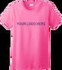 Ladies Safety Green Short Sleeve T Shirt Full Front Custom Printed Logo