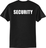 Security T Shirt Black with Back Imprint