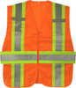Safety Orange Expandable Class 2 Ansi Safety Vest Two Tone VS290P