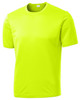 Neon Yellow Performance 100% Polyester T-Shirt