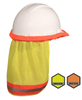 Hi Vis Two Tone Hard Hat Neck Shade for Cap and Full Brim Hard hats